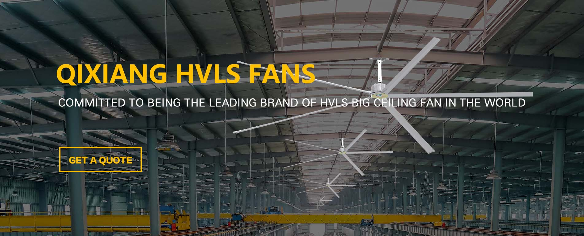 Big Industrial HVLS Ceiling Fans