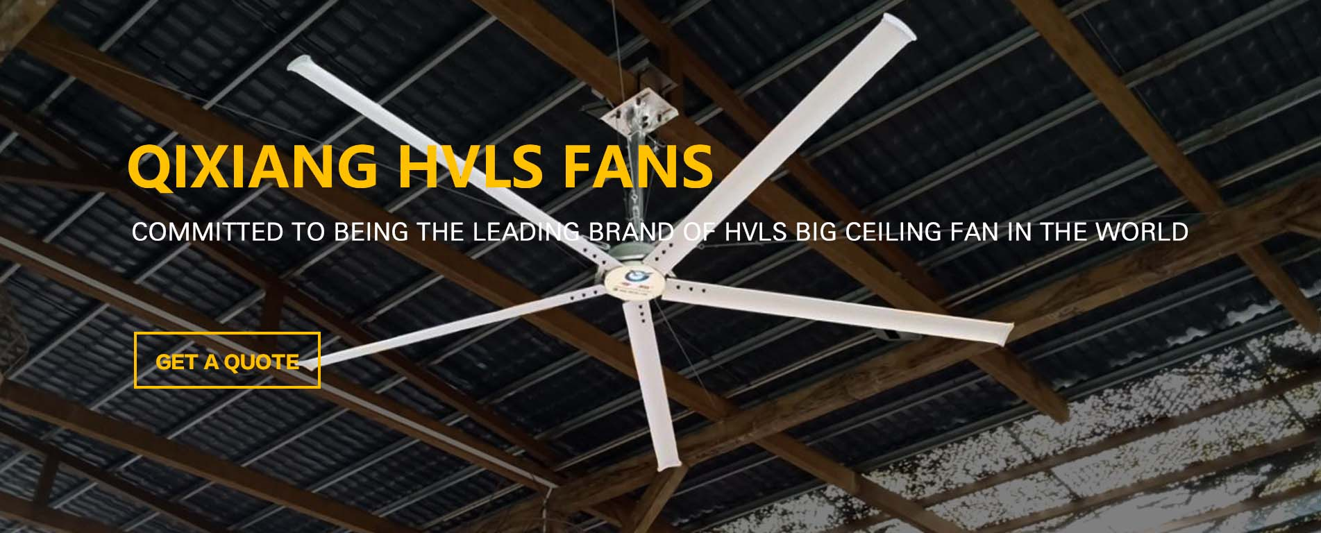 Large HVLS Industrial Ceiling Fans